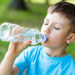 Kid drink water — Stock Photo