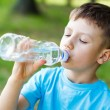Stock Photo: Kid drink water