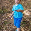 Little boy walking in the nature — Stock Photo