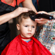 Stock Photo: Haircut for little boy