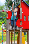 Smiley boy on playgroung — Stock Photo