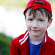 Little kid in red cap — Stock Photo