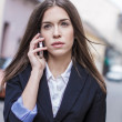 Stock Photo: Entrepreneur womcalling