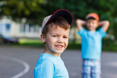 Happy little boy on playground — Foto Stock