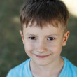 Stock Photo: Little preschooler boy smile