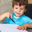 Little child drawing — Stock Photo #31533885