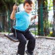 Stock Photo: Little preschooler kid swinging