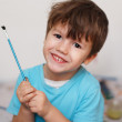 Little boy with paintbrush — Stock Photo