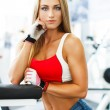 Stock Photo: Fitness model posing