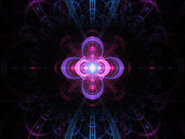 Nuclear cold fusion abstract fractal background — Foto de Stock