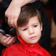 Cute boy haircut — Stock Photo
