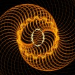 Orange spirals — Stock Photo