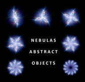 Collection of abstract nebulas — Stock Photo