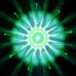 Stock Photo: Green particle fission