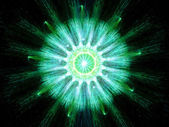 Green particle fission — Stock Photo