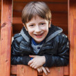 Little boy outdoor portrait — Stock Photo