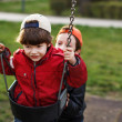 Little boy swinging — Stock Photo #42774681