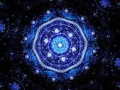 Magic mandala in space — Stock Photo