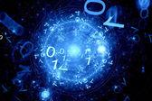Code zero one in cyberspace — Stock Photo