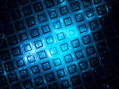 Blue grid in space — Stock Photo