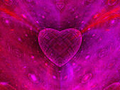 Colorful heart fractal background — Stock Photo