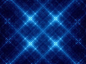 Abstract blue glowing snowflakes — Stock Photo