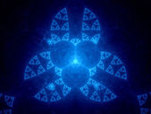 Abstract blue fractal in cyberspace — Stock Photo