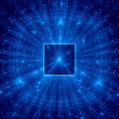 Blue abstract square with blue rays — Stock Photo