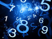 Numbers blue abstract background — Stock Photo