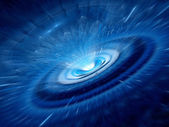 Blue spiral wormhole — Stock Photo