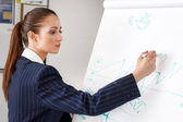 Businesswoman drawing chart — Stock Photo