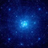 Blue nebula in deep space — Stock Photo