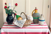 Demijohn still life — Stock Photo