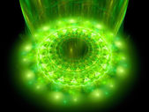 The heart of green mandala — Stock Photo