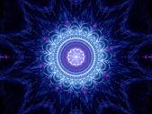 Büyük mavi mandala — Stok fotoğraf