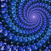 Colorful spiral fractal — Stock Photo