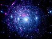 蓝色粉红色星系统 — 图库照片