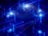 Blue neon futuristic abstract background — Stock Photo