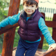 Little boy outdoor in cap — Stock Photo #49520385