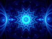 Blue ice mandala — Stock Photo