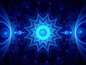 Blue ice mandala — Zdjęcie stockowe