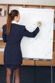 女商人绘制图表 — 图库照片