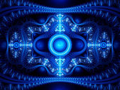 Abstract blue winter fractal — Stock Photo