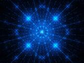 Blue snowflakes winter fractal — Stock Photo