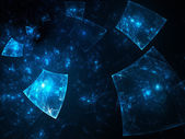 Glowing blue squares — Stock Photo