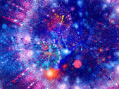 Colorful blue world with circles — Stock Photo