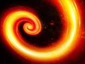 Fire spiral in space — Stock Photo