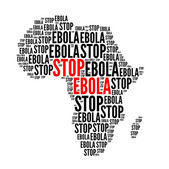 Stop ebola red and black — Stock Photo