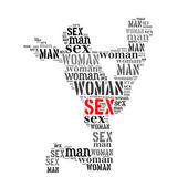 Woman man word cloud — Zdjęcie stockowe