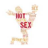 Hot sex word cloud — Zdjęcie stockowe